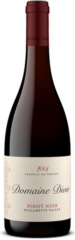 Bottle shot of the 2014 Domaine Divio Willamette Valley Pinot Noir