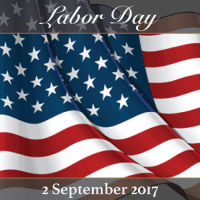A picture of the USA flag depicting our 2017 Labor Day event at Domaine Divio.